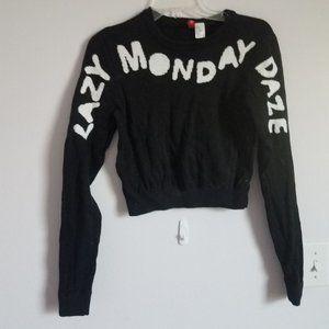 Lazy Monday Daze Crop Sweater